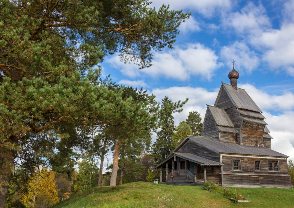 Old church on holy earth