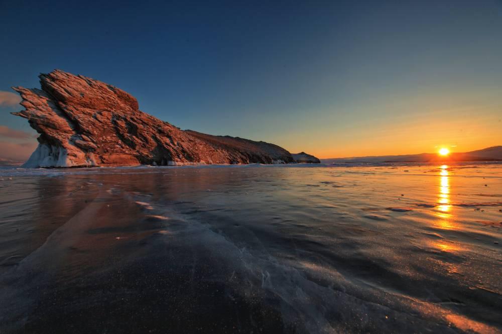 Остров Огой на Байкале. Рассвет