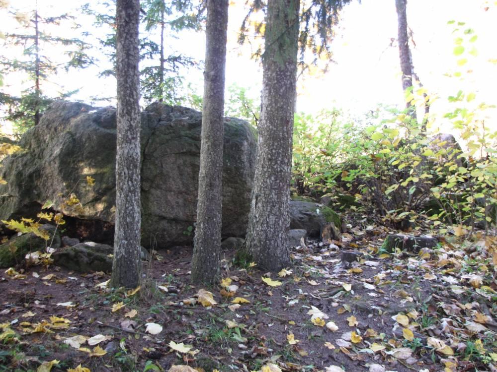 Kolm kivivalvurit Kirna Mõisa pargis