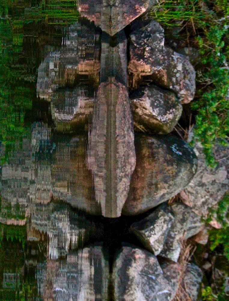Ancient face