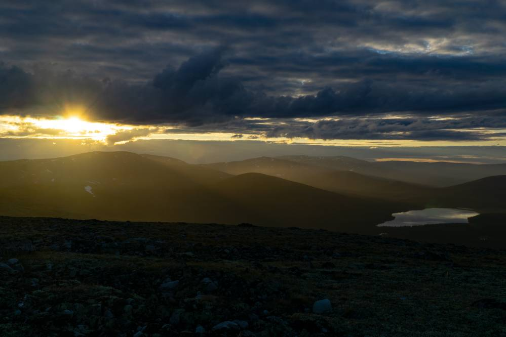 Золотой свет над священными горами