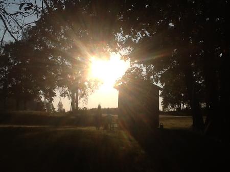 Päikesetõus Hargi talus septembris